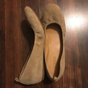 Jcrew Suede Ballet Flats